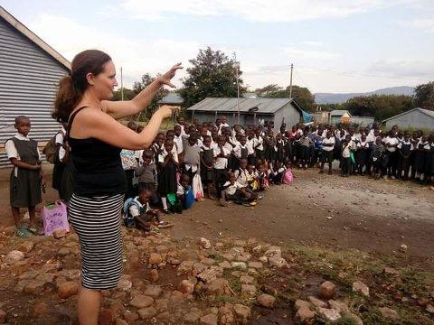Kristin Ulven Jørgensen fra Gjerdrum har besøkt Oasis of Hope-skolen i Kenya flere ganger.