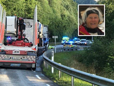 Marit Brodshaug Sveen (innfelt) er nærmeste nabo til stedet hvor bilen med den drepte kvinnen ble funnet.