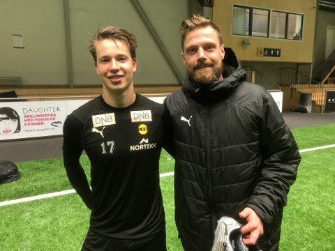 ERSTATTER: Kristoffer Ødemarksbakken (t.v.) kan erstatte Arnor Smárason mot Ranheim søndag.