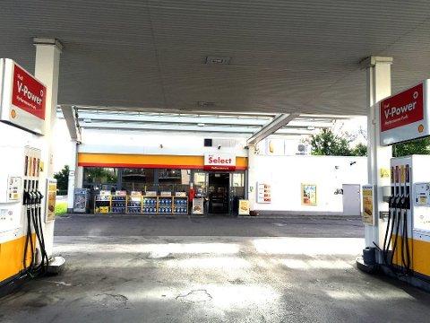 Lillestrøm: Shell-stasjonen på Lillestrøm syd.