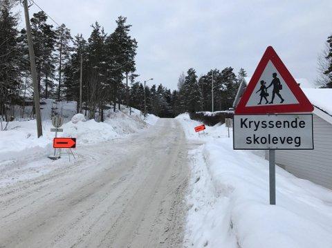 REDUSERT FRAMKOMMELIGHET: I tillegg til ny veiløsning, hvor man erstatter tidligere gang- og sykkelvei med fortau, blir det også nytt veilysanlegg langs trekningen.