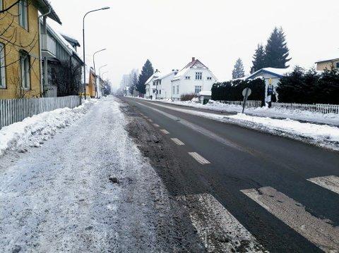 Lillestrøm 7. februar: Vinterveiene er ryddet, men fortsatt preges enkelte sykkelveier av dårlig framkommelighet.