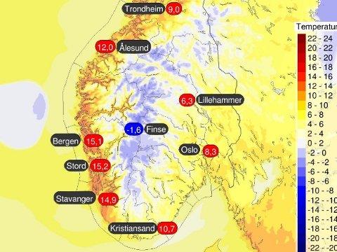 VARMT VÆR I SIKTE: Allerede søndag kan gradestokken vise over 15 grader, men til neste uke blir det enda varmere.