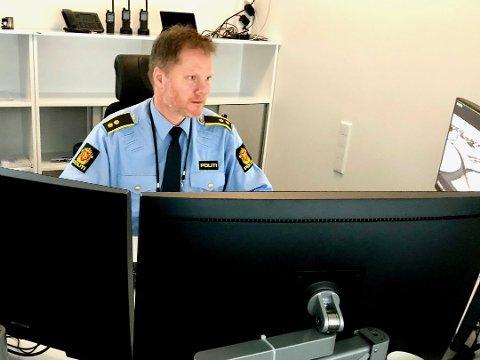 UNDERBEMANNET: Operasjonssentralen i Ski slet med bemanningen på grunn av sykdom fredag kveld. Operasjonsleder Finn Håvard Aas beklaget situasjonen ovenfor RB.
