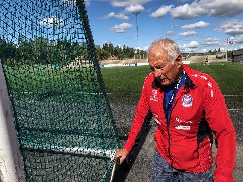 Atle i aksjon på Rolvsrud stadion