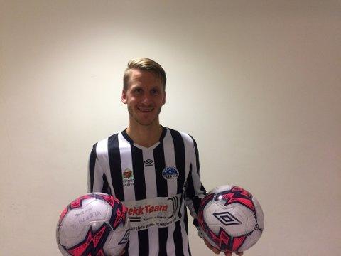 AVGJORDE: Remi Rød satte inn to scoringer for Kløfta mot Aurskog-Høland. Det avgjørende 5-2-målet var en lettelse for alle med hjertet i Kløfta.