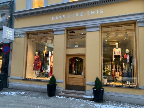 Days Like This-butikken i Grensen i Oslo sentrum. Kjeden ble etablert i 2016.