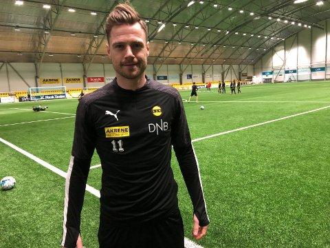 VENTER: Arnór Smárason må fortsatt vente på sitt comeback. Han spiller ikke mot Sarpsborg.