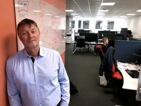 VOKSER: Duvi-direktør Asbjørn Erdal er fornøyd med veksten selskapet opplever. (Foto: Thor Fremmerlid)