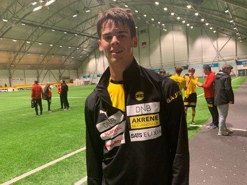 SCORET I DEBUTEN: Lasse Nordås er en av flere nye spennende fjes på årets rekrutt lag for LSK i 3. divisjon. Mandag kveld debuterte han med scoring mot Bodø/Glimt 2