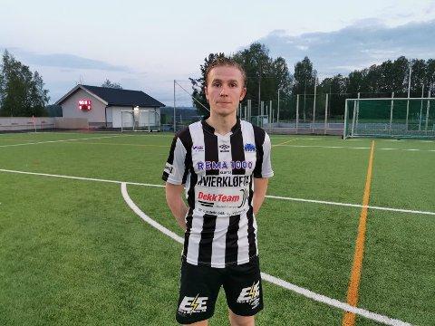BARE NESTEN: Ole Fredrik Westheim satte ballen i mål på overtid, men Kløfta-spillerens nettkjenning ble annullert.