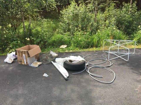 Dette lå igjen i Breisjøveien, selv etter at mannen i 20-årene hadde fått pålegg av politiet om å fjerne det.