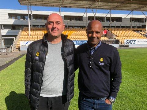 SER FRAMOVER: LSKs utviklingssjef Toni Ordinas (t.v.) og sportssjef Simon Mesfin er godt fornøyd med at klubben har fått en stjerne til i akademiklassifiseringen. Men de slår seg ikke til ro med det.