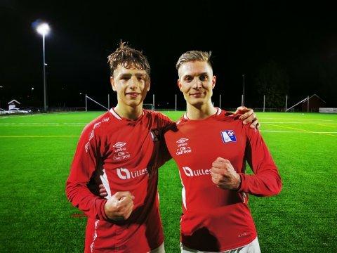 MÅLSCORERE: Daniel Burko (t.v) og Marius S. Harsjøen sørget for at Rælingen stakk av med alle tre poengene fra Fedrelandet mandag kveld.
