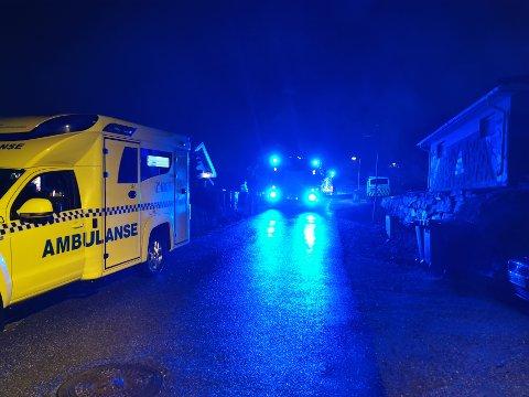 INGEN PERSONSKADER: Beboeren slapp fra det uten skader, men boligen på Neskollen fikk store røykskader som følge av brannen sent lørdag kveld.