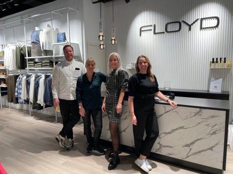 Optimistiske: De ansatte er klare for å ta imot nye kunder. Fra venstre: Øystein Myklebust, Frida Gunnarsson, Iselin Nordøy og Lotta Stangeland.