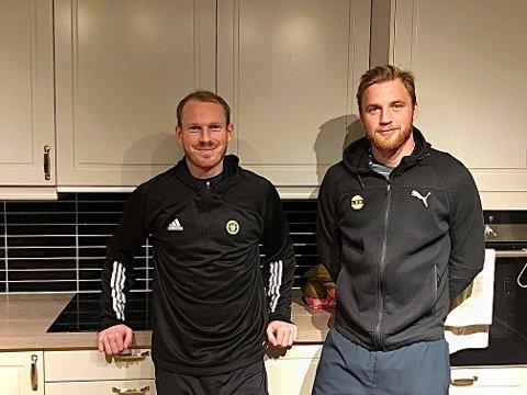 TRE ÅR: Sverre Martin Torp (t.v.) og Espen Garnås har vært samboere i tre år. Søndag er de motstandere på banen for første gang etter at Garnås ble LSK-spiller.
