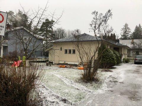 Eneboligen ligger i et av områdene i Jessheim sentrum som ennå ikke er utbygd.