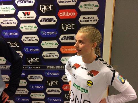 LANDSLAGSSPILLER: Emilie Woldvik er tatt ut i landslagstroppen. FOTO: HÅVARD SÆLE