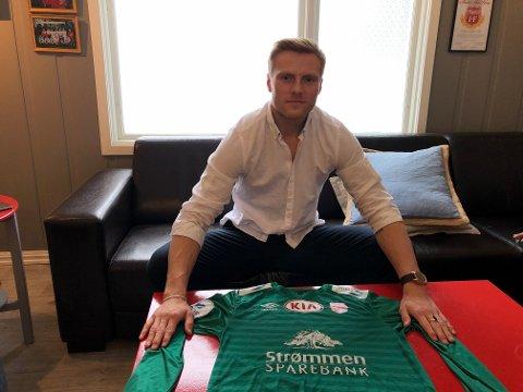 Toårskontrakt: Simen Lillevik Kjellevold har mål av seg om å være blant de beste keeperne i divisjonen denne sesongen.