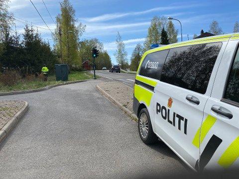 KONTROLL-UKE: UP har bistått Øst politidistrikt med grensekontroll. Nå er betjentene tilbake og mer tilstedeværende langs veiene. Det medfører kontroller, som her fra Skjetten torsdag.