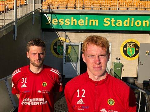 DEBUTKLAR: 19-åringen Christoffer Gjertsen (t.h) er klar dersom Stefan Hagerup må stå over på grunn av fødsel.