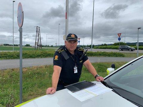 PÅ VEIEN: UP-leder på Romerike, politioverbetjent Ante Klemetsen.