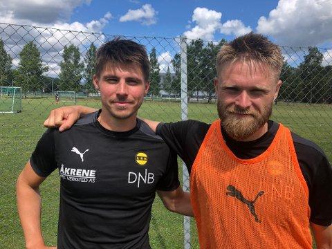 LSK-KLARE: Sindre Mauritz-Hansen (t.v.) og Marius Amundsen kommer inn i LSK-troppen før seriestart.