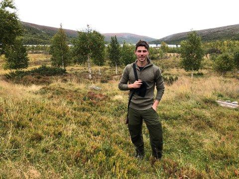 PÅ RYPEJAKT: Sindre Mauritz-Hansen dro rett til hytta i Femundsmarka etter at han hadde terminert LSK-kontrakten og tatt farvel i garderoben på Åråsen.