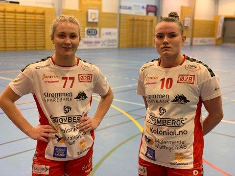 BRILJERTE: Rælingens to kantspillere, Rikke Arnesen (t.v) og Anniken Wollik var hjemmelagets beste spillere med sine 7 mål hver.