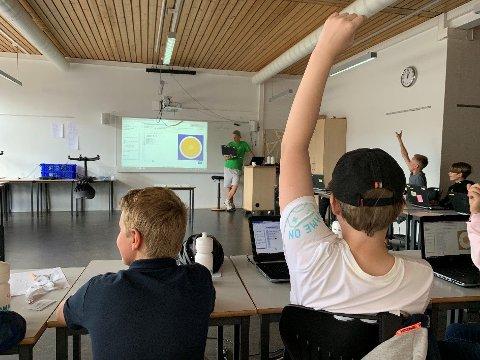 SOMMERSKOLE: Dette bilde er tatt ved en tidligere anledning da Lørenskog kommune arrangerte sommerskole.