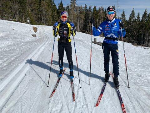 Trente i åsen: Elise Antonsen fra Nes, som går for Gjerdrum, og Oskar Lockert Skjold fra Nannestad, som går for Åsen IL.