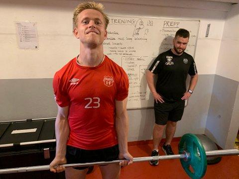 Spent på framtida: For to år siden startet Torjhe Naustdal prosessen som har fått ham, ifølge trener Ole Martin Nesselquist, til å se ut som en atlet. Det har kostet svette og også penger.