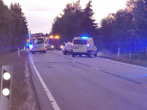 Ulykken skjedde på Trondheimsvegen i Eidsvoll.