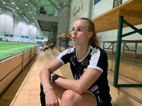 Solid oppsving: Nora Eide Lie framstår som en annen spiller i år enn det hun var i 2020. Selvtillit, annen spillestil og ny posisjon er årsakene til det, i hennes øyne.