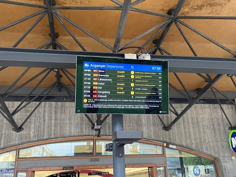 INNSTILT: Alle tog som går gjennom Oslo S er innstilt fra Lillestrøm.