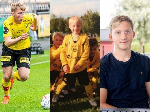 ET LIV I GULT OG SVART: Eskil Edh er LSKs nye A-lagsstjerne. Han har spilt i gult og svart siden 6-årsalderen.