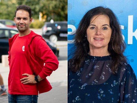 Frps Liv Gustavsen og Aps Mani Hussaini (Ap) drømmer om å komme inn på Stortinget, men er avhengig av et godt valgresultat i kveld. Begge mandatene er usikre.