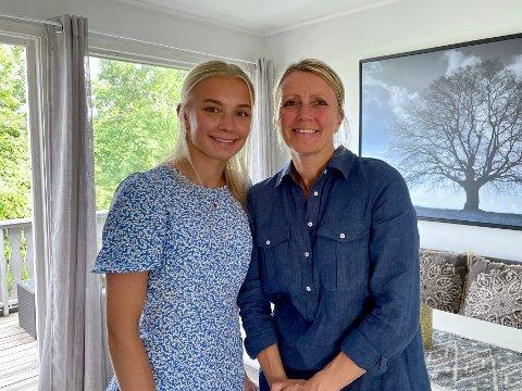 KLARE FOR REALITY: Hver fredag fremover skal Thea Kyvåg og mamma Sahra Hausmann kjempe sammen i «Familiens ære» på NRK.