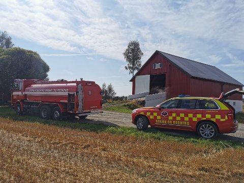 ULMEBRANN: I en kornsilo i Nes brøt det ut brann torsdag ettermiddag.