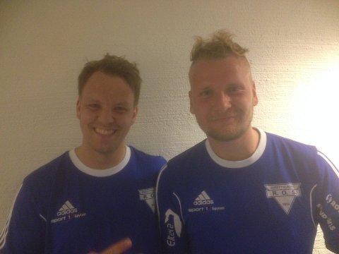 Martin Gunnulfsen (t.h.) og Jens Petter Berg  scoret målene som senket Glassverket.