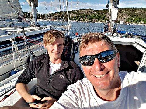 SLO TIL IGJEN : Colin og Edward Campell ble norgesmestere i Shorthanded-seiling i stor klasse.