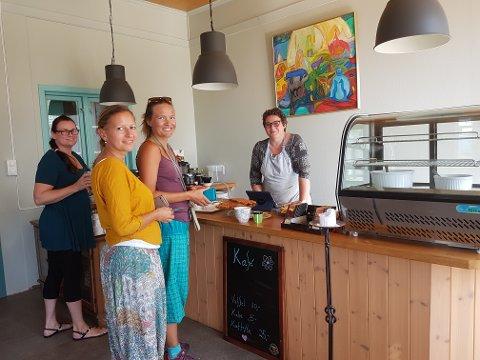 ÅPENT HUS: Kulturhuset Hovtun holder åpent hus i helgen. I kafèen serverer Barbara Negri økologisk is, glutenfri eplekake og nystekte vafler med ingredienser fra omkringliggende gårder.
