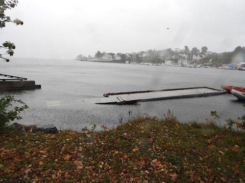 HØY VANNSTAND: Det er varslet høy vannstand natt til onsdag.