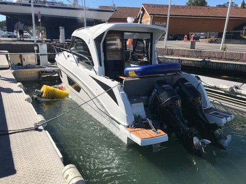 VASK: To selskap har fått støtte til pilotanlegg for båtvask og rens i Vollen og på Blakstad. Her fra dagens anlegg i Vollen.