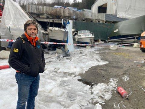 HELDIG: Pavel Sieracki slapp billig unna gårsdagens båtbrann i Nærsnesbukta.