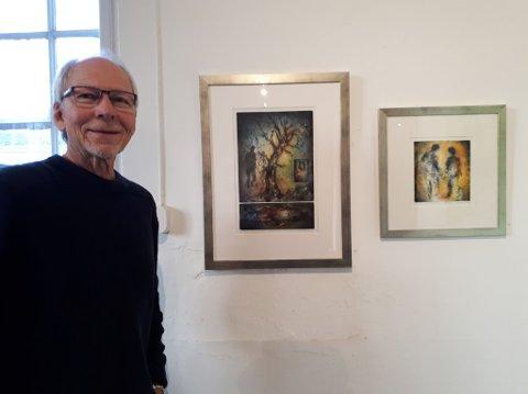PÅ GALEHUS: Henning Vik er en av 40 kunstnere som stiller ut på Galleri Dikemark under Kunst-i-Høst.