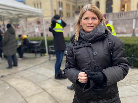 GLEDER SEG: Ordfører Lene Conradi gleder seg over at etappedelet er flyttet fra Slependen til Nesbru.