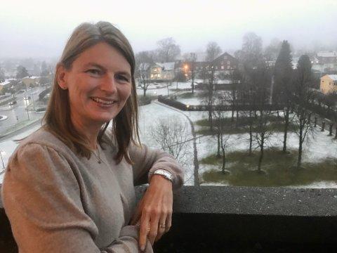 KLAR: Ordfører Lene Conradi (H) er klar for en gradvis gjenåpning i Asker og roser innbyggerne.