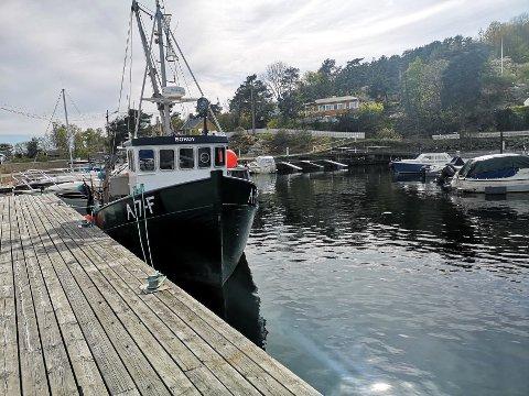 FISKERIKAI: Den ytterste bryggen er tilpasset yrkesfiskere og deres båter.